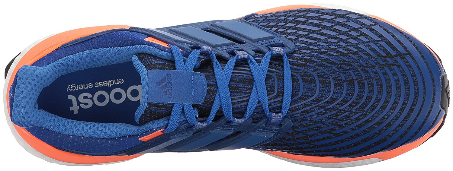 A top view of the Adidas Energy Boost running shoe