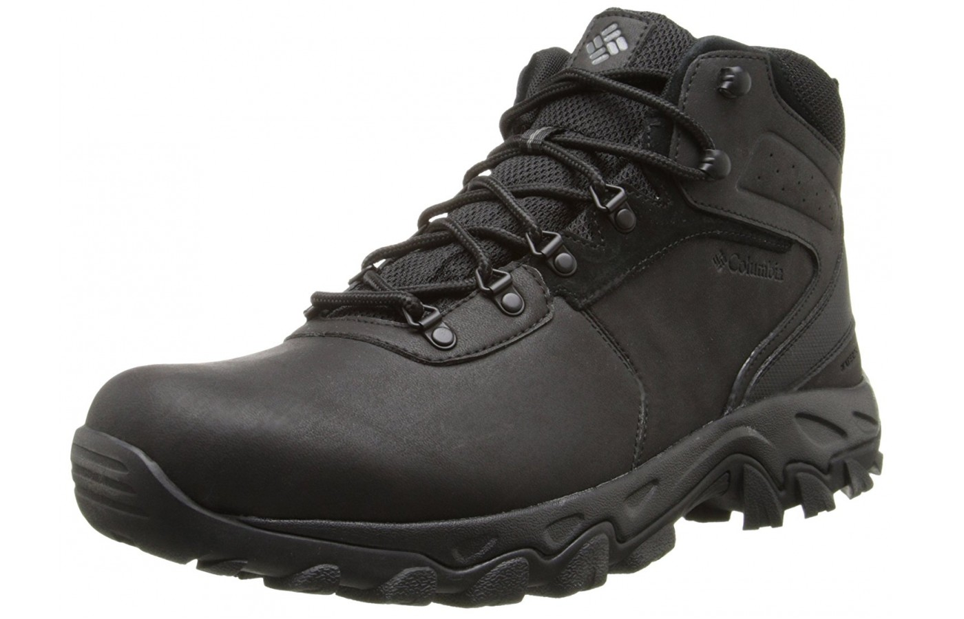 A three quarter view of the Columbia Newton Ridge Plus II hiking boot