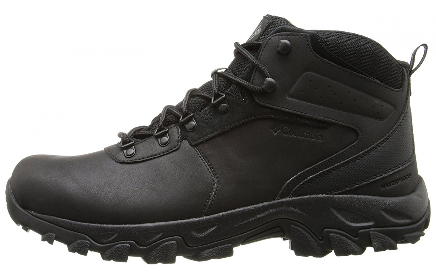 A side view of the Columbia Newton Ridge Plus II hiking boot