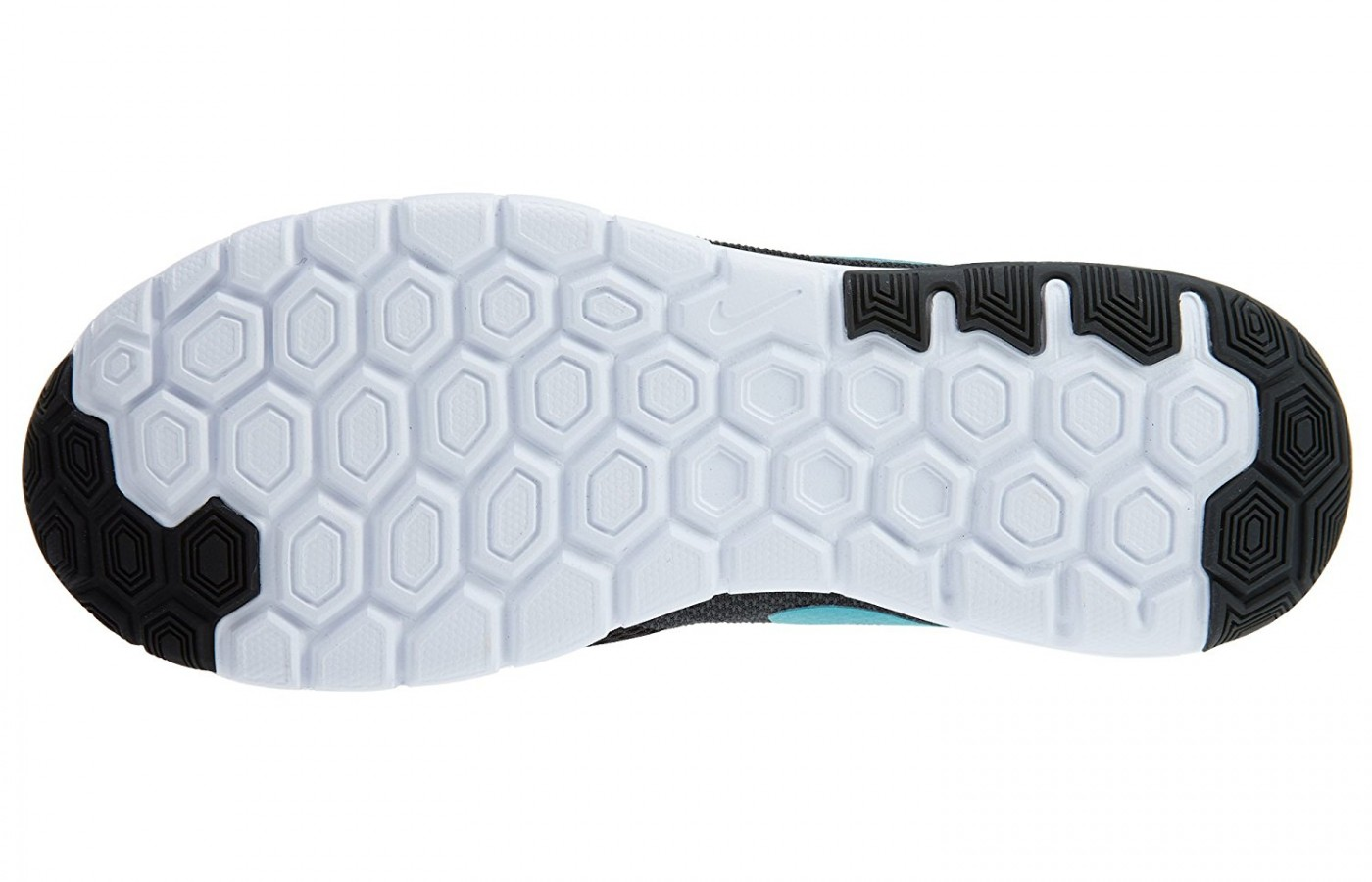 the hexagon-shaped bottom of the Nike Flex Experience RN 6 helps with flexibility