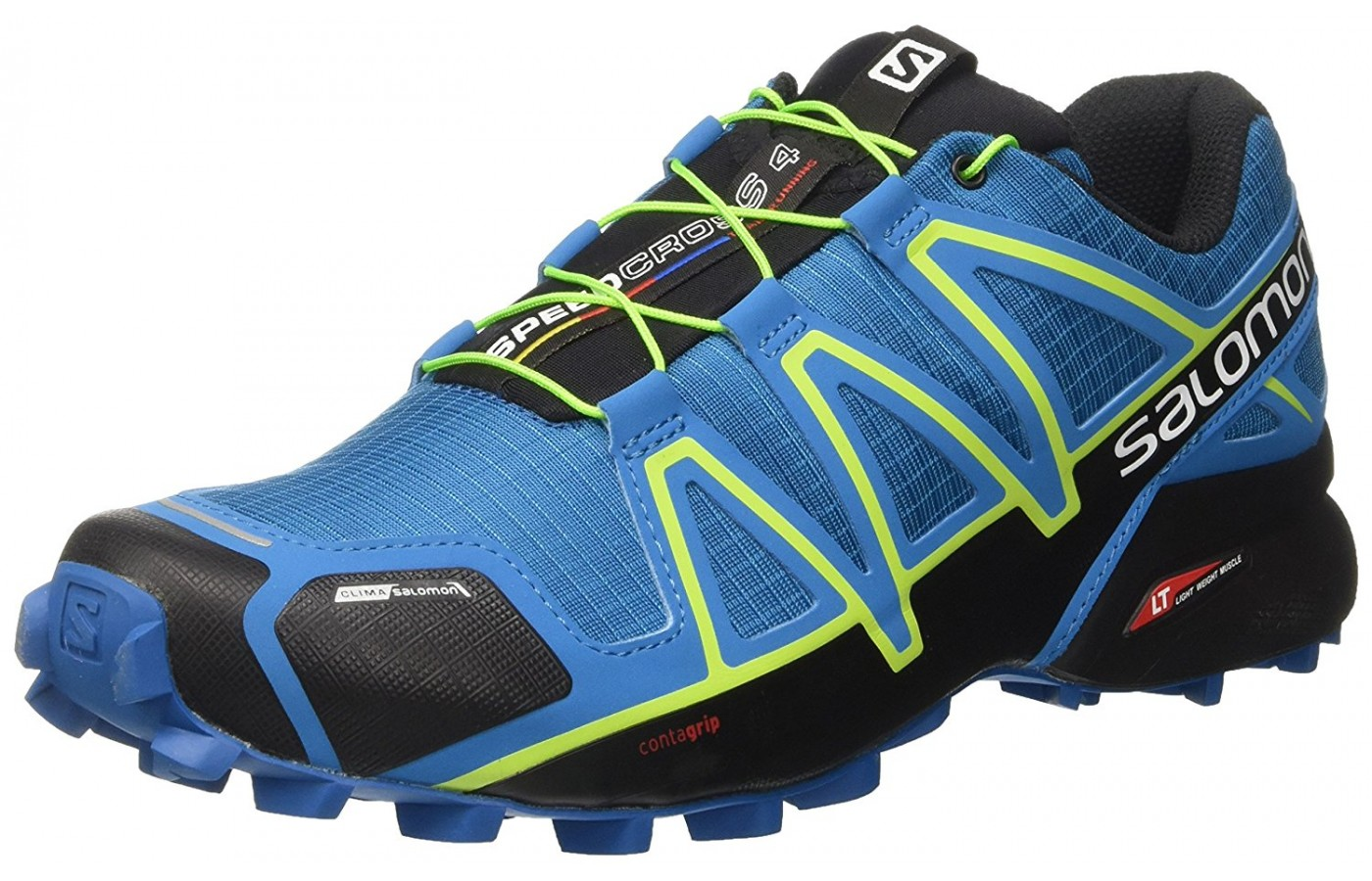 Three quarter view of the Salomon Speedcross 4 trail running shoe