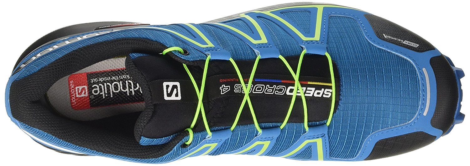 Top view of the Salomon Speedcross 4 trail running shoe