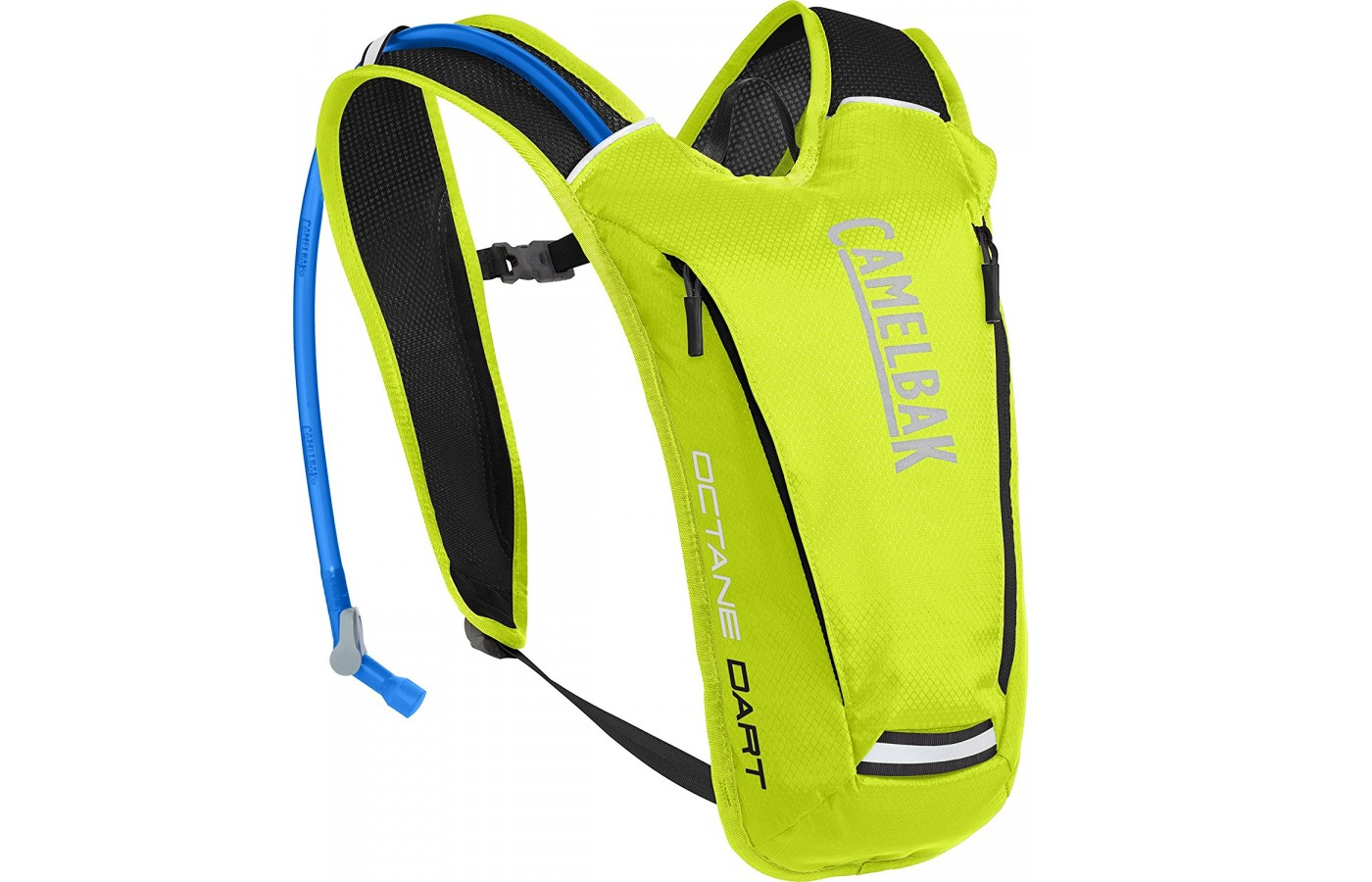 Three quarter view of the Camelbak Octane Dart Hydration pack in yellow