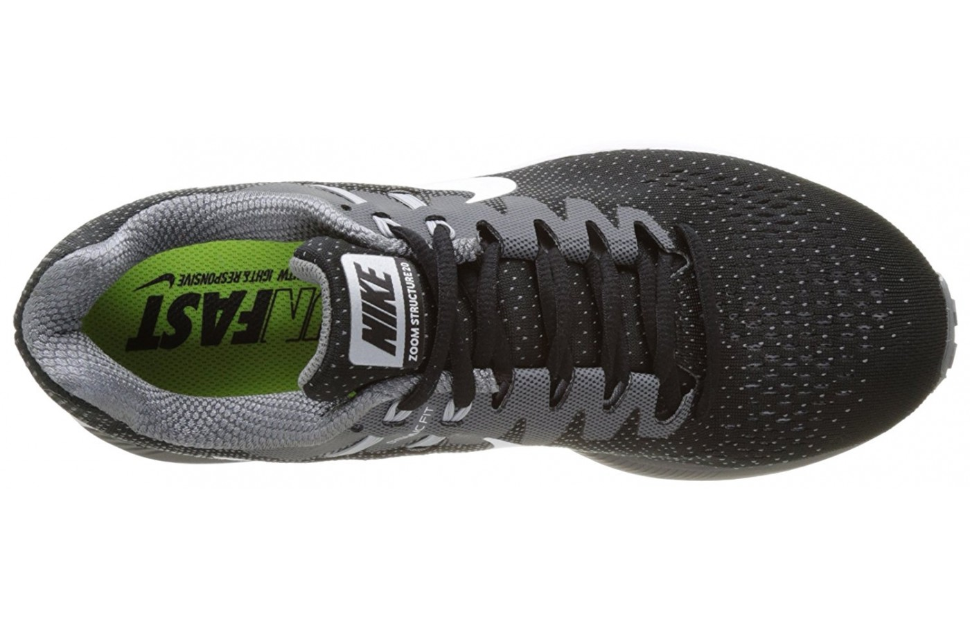 Top of the Nike Air Zoom Structure 20 running shoe