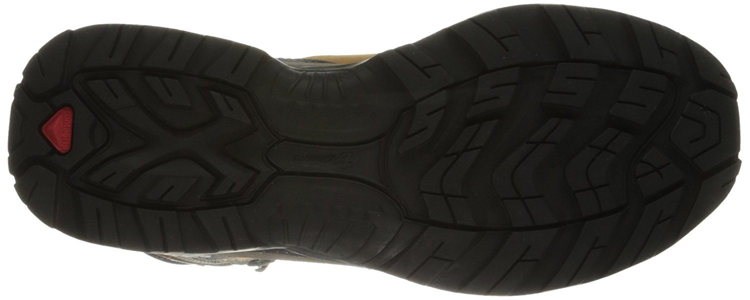 A bottom view of the Salomon Quest 4D 2 GTX hiking boot
