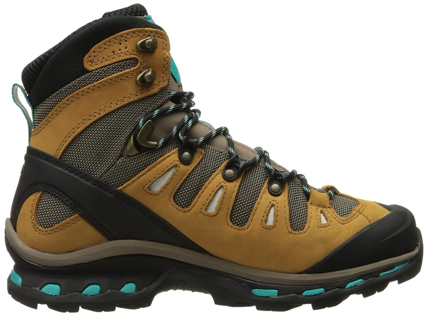 A side view of the Salomon Quest 4D 2 GTX hiking boot