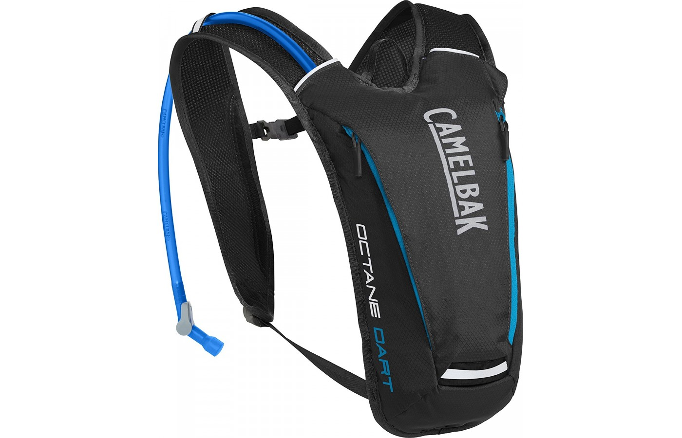 Three quarter view of the Camelbak Octane Dart Hydration pack in black