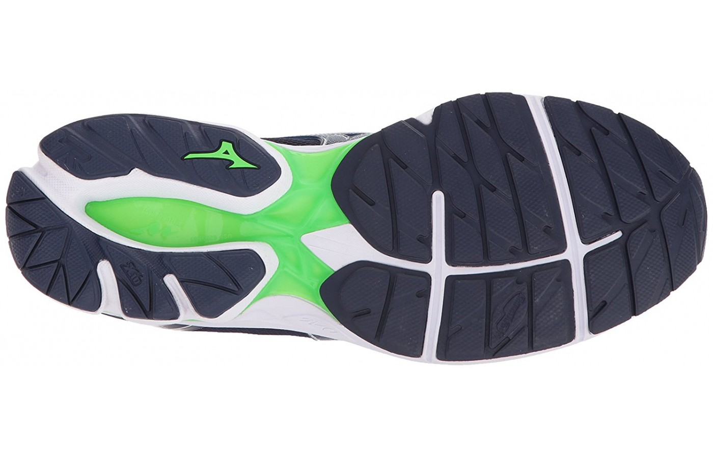 The durable outsole on the Mizuno Wave Rider 21