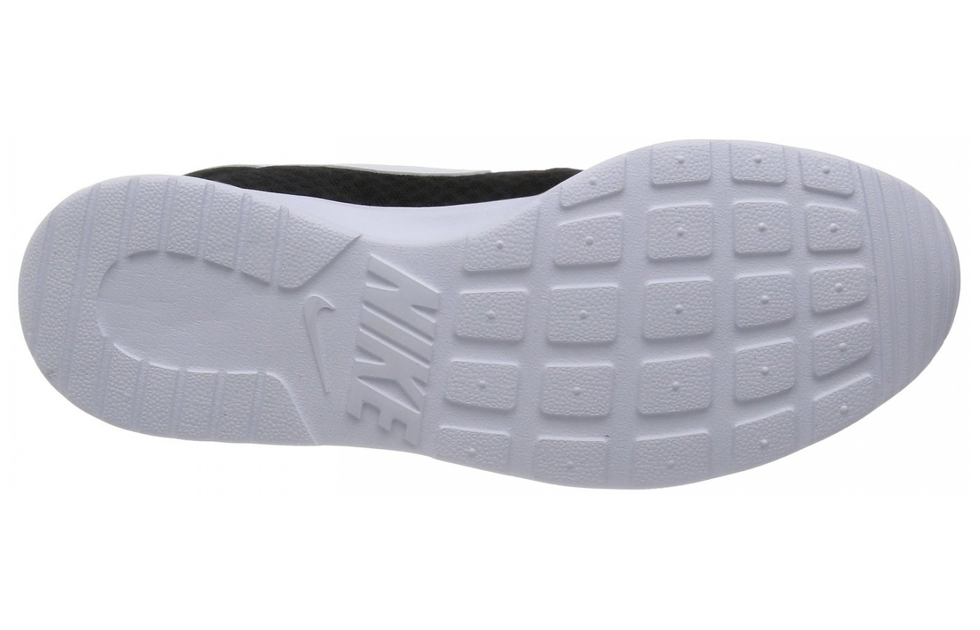 The waffle pattern outsole of the Nike Tanjun