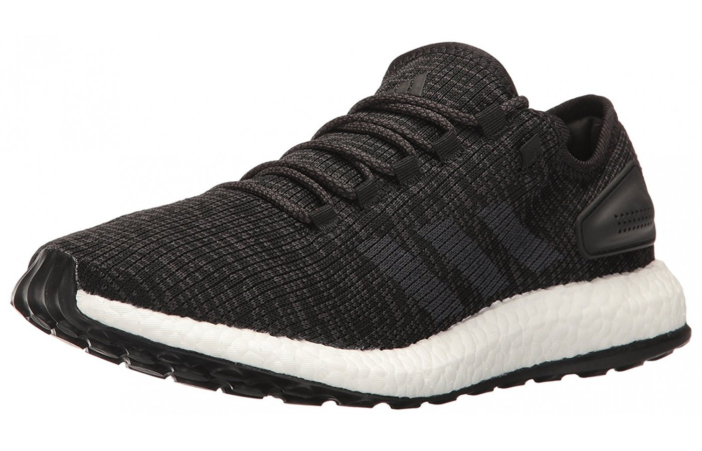 The sleek upper of the Adidas Pure Boost