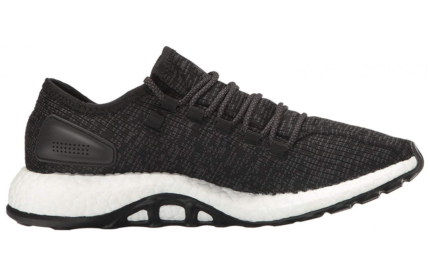 The raised outsole of the Adidas Pure Boost