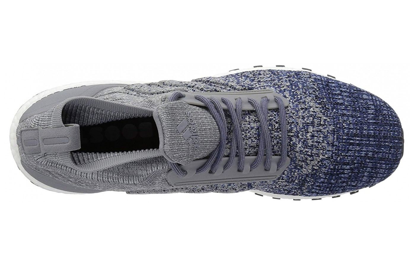 A view of the Adidas Ultraboost All Terrains insole and upper