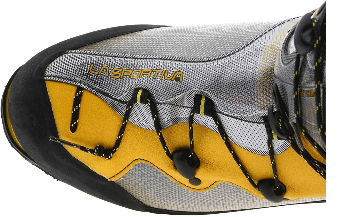 The single handed lacing system of the La Sportiva Spantik
