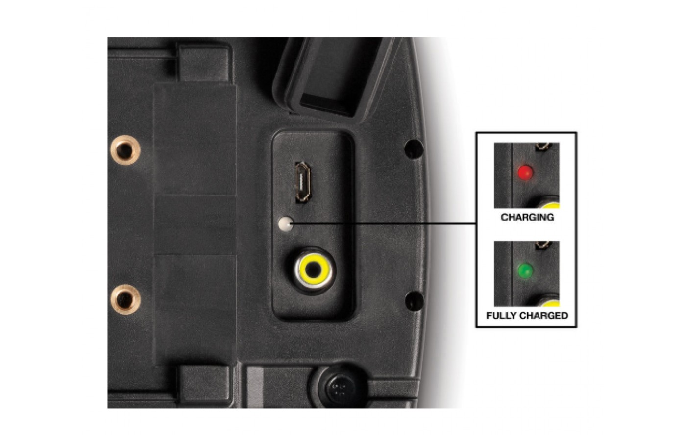 The MarCum Recon 5 has an on-screen indicator to tell you when it needs recharged again.