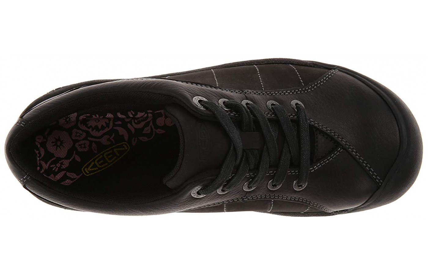 The shoe has Oxford style lacing.