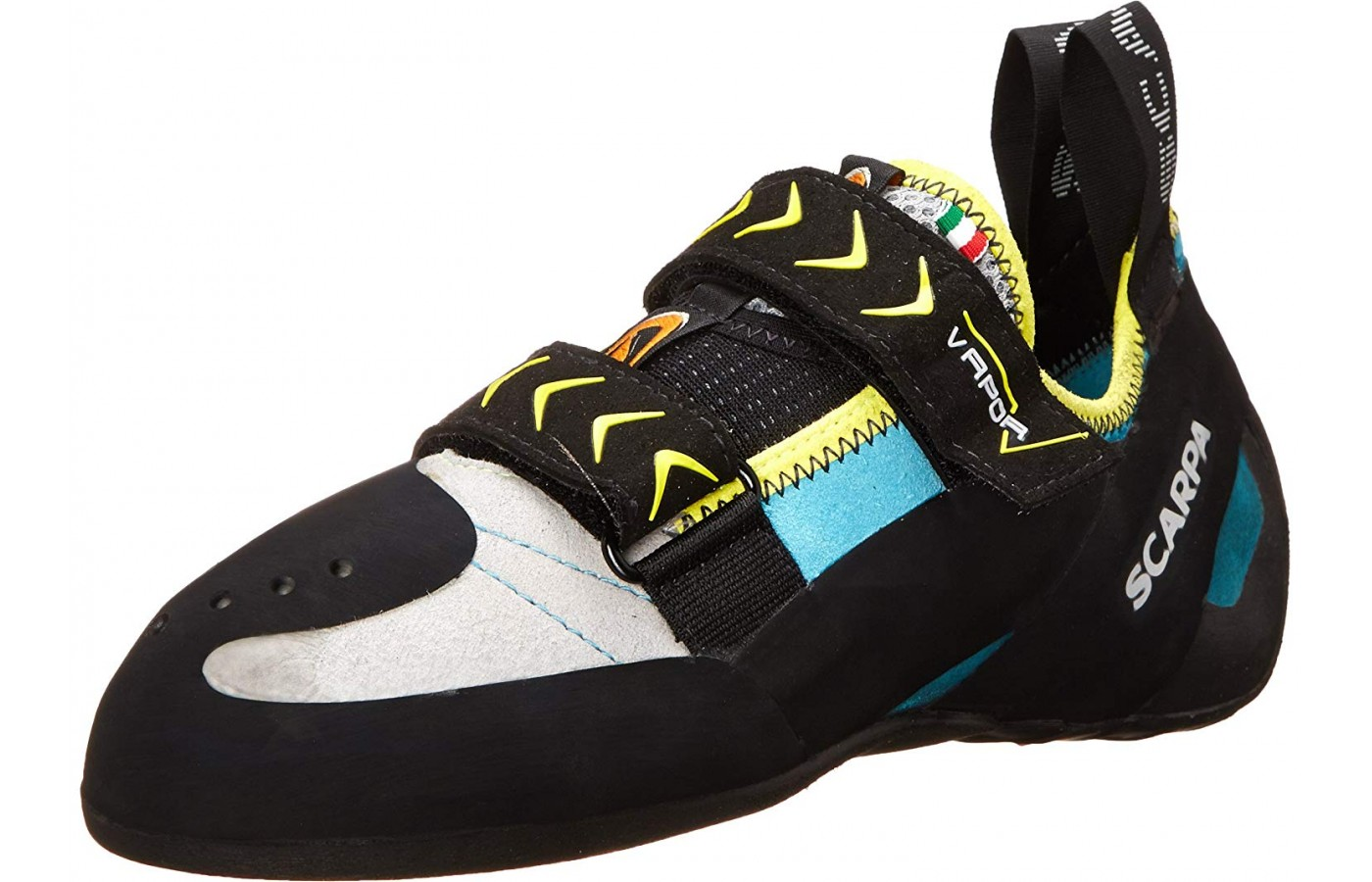 The Scarpa Vapor V is an all-around high-performance edge shoe.