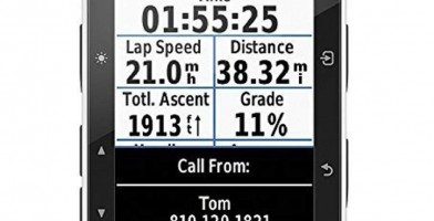 An in-depth review of the Garmin Edge 520 displays multiple metric information on the display screen.