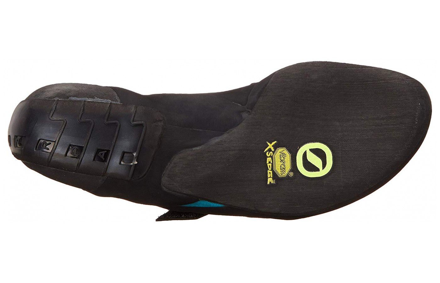 The Vibram XS Edge covers only half the outsole.