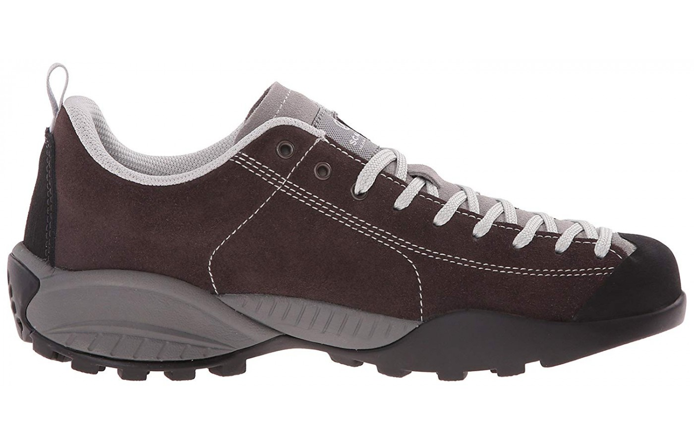 The upper is made of suede leather.