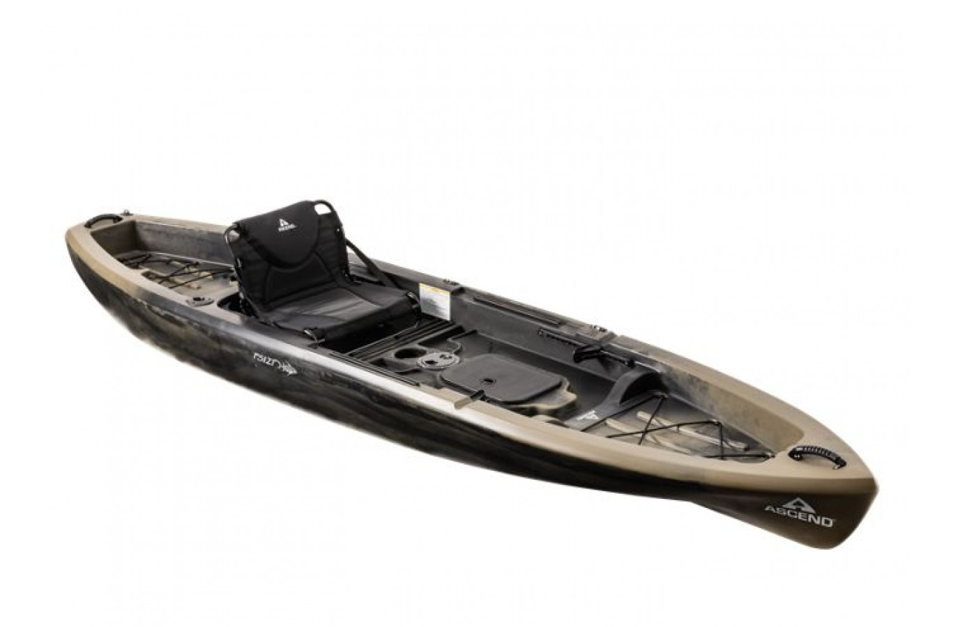 The Ascend FS12T offers a tunnel hull design for a smoother ride on water.