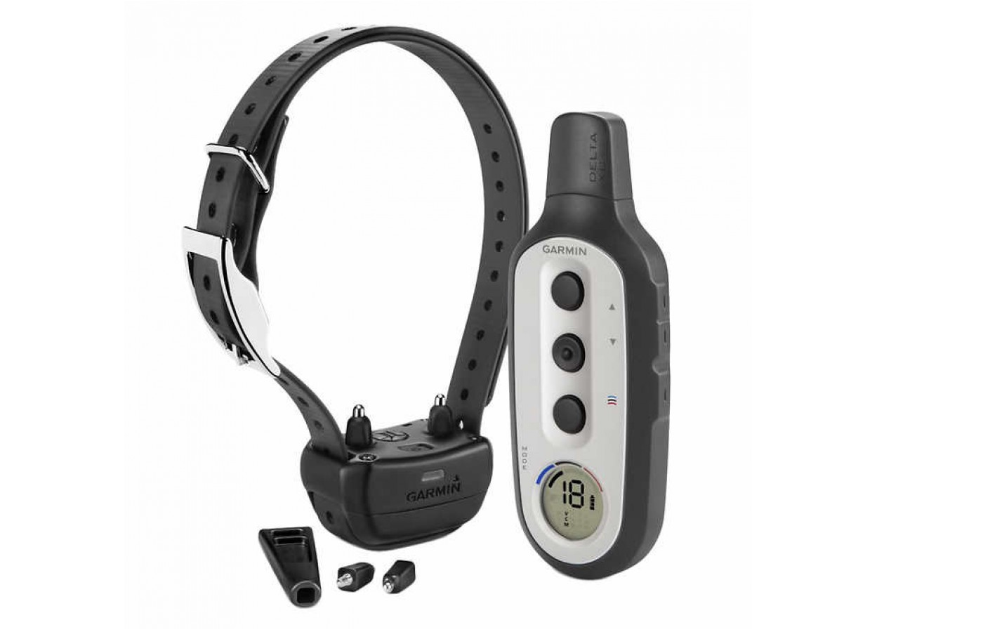The Garmin Delta XC has long and short contact points for better reception.