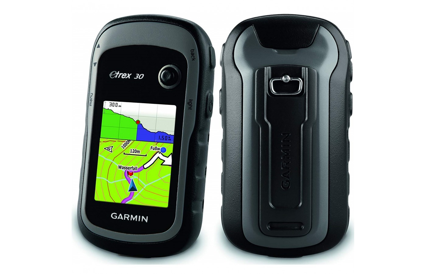 TheThe Garmin eTrex 30 offers a mounting capabilities for ATV, bike and car use. offers internal memory in order to provide access to maps even out of wireless range.