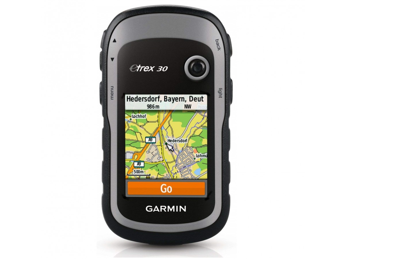 The Garmin eTrex 30 offers a 240x 320 display for easy readability.