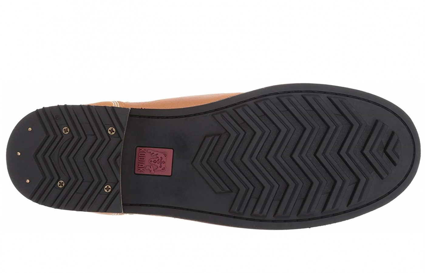 This product offers chevron leather outsoles in order to offer superior traction.