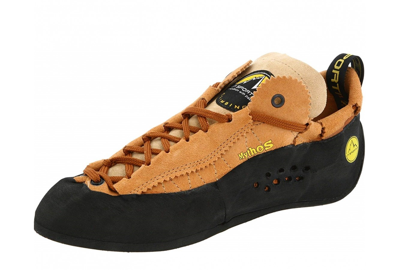 The La Sportiva Mythos offers a patent lacing system for support and stability.