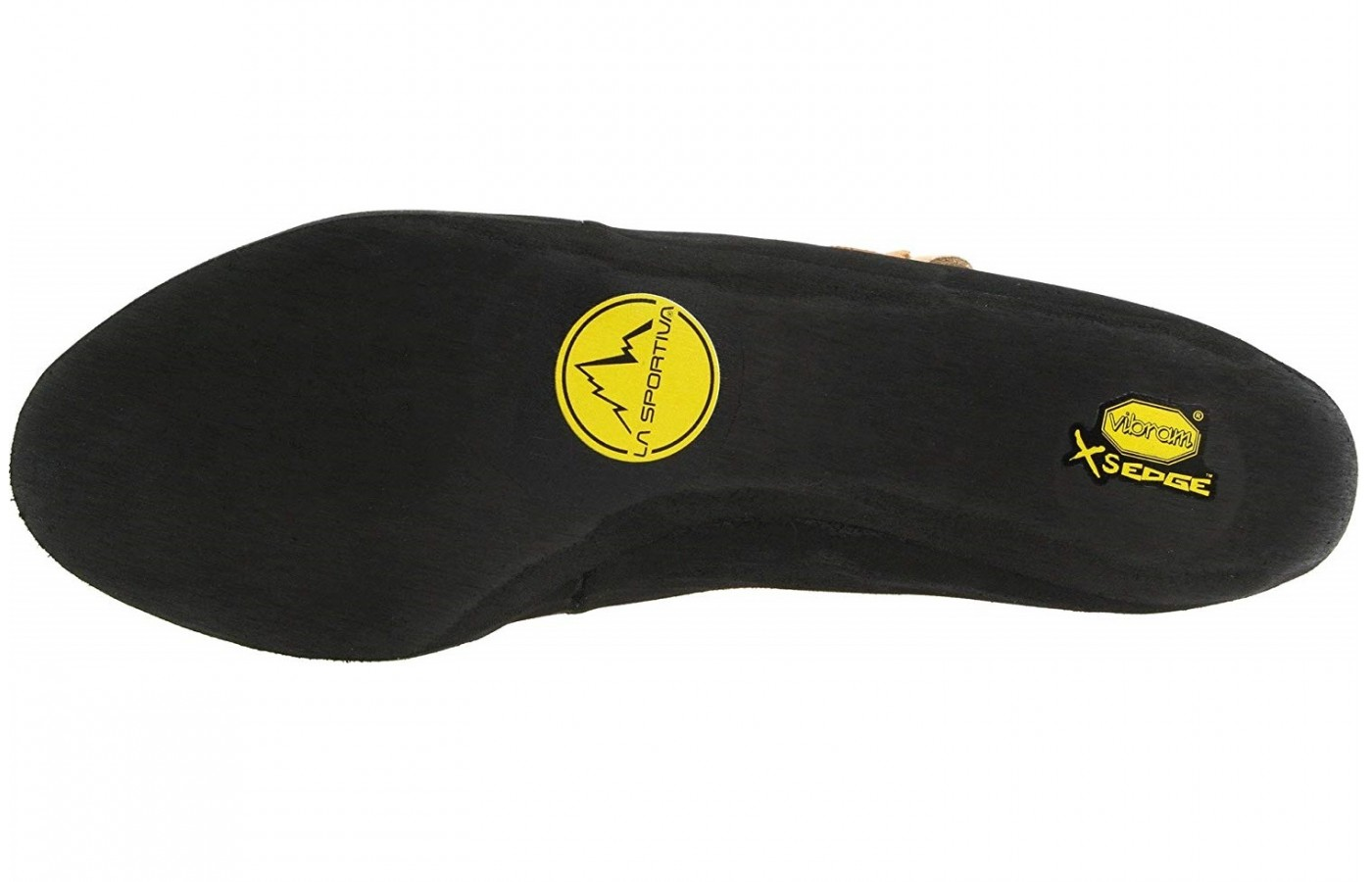 The La Sportiva Mythos offers full Vibram rubber rands for better grip.