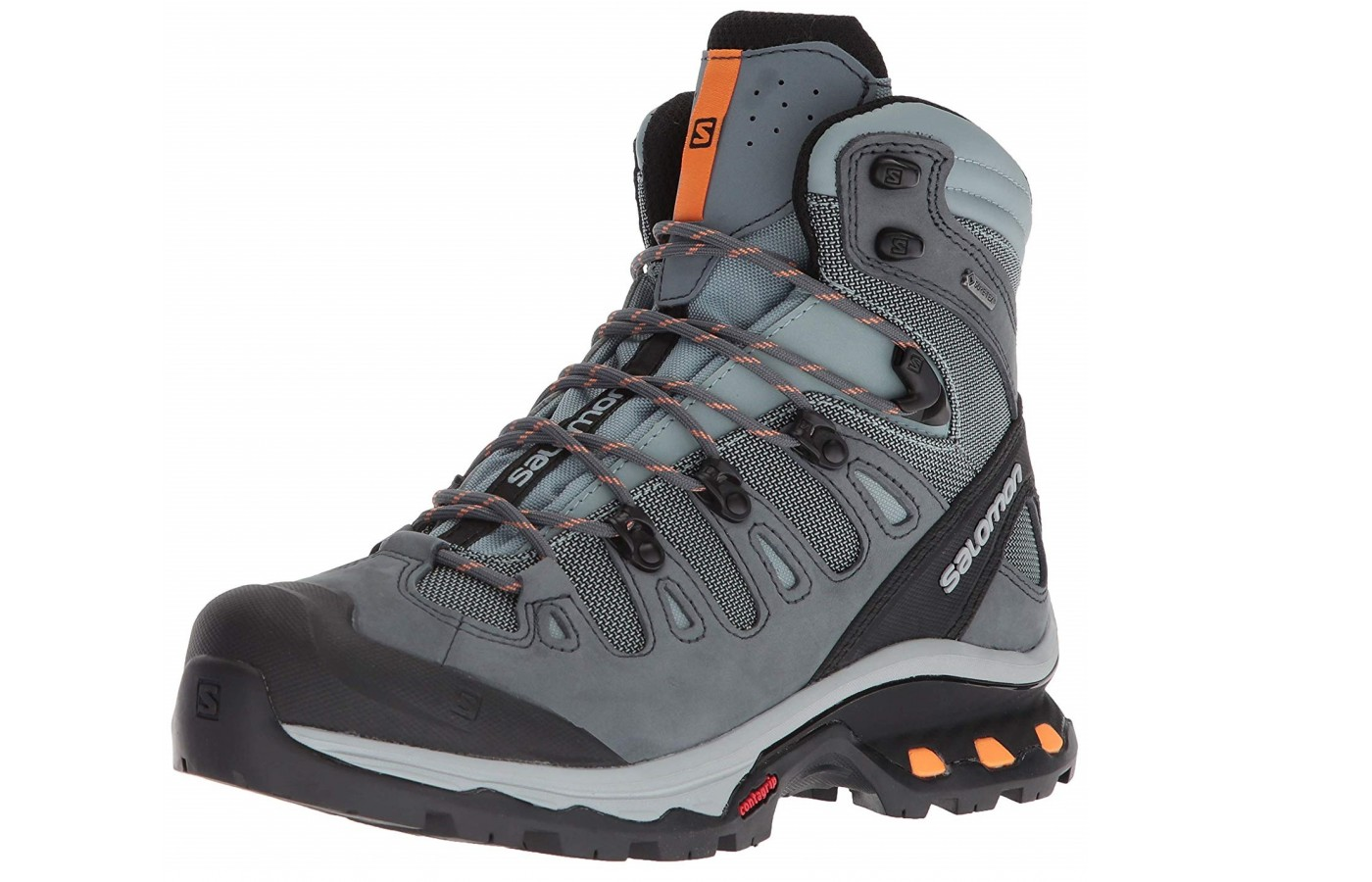 The Salomon Quest 4D 3 GTX offers a synthetic and leather upper for breathability and weather proofing.