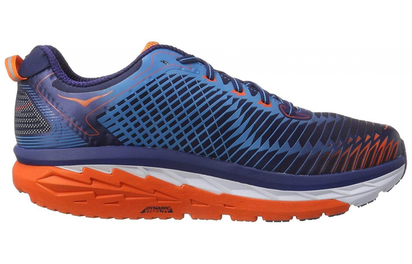 The midsole is molded in a way that gives extra support to the arches of the foot.