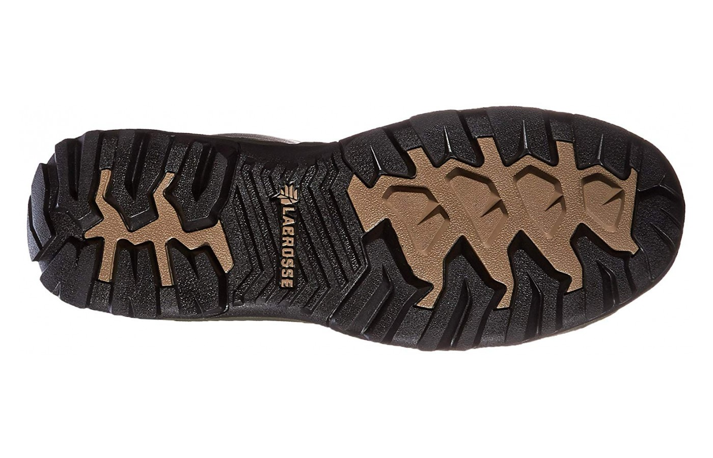 The tread of the Lacrosse Alphaburly Pro is designed so debris slides off the bottom of the boot.