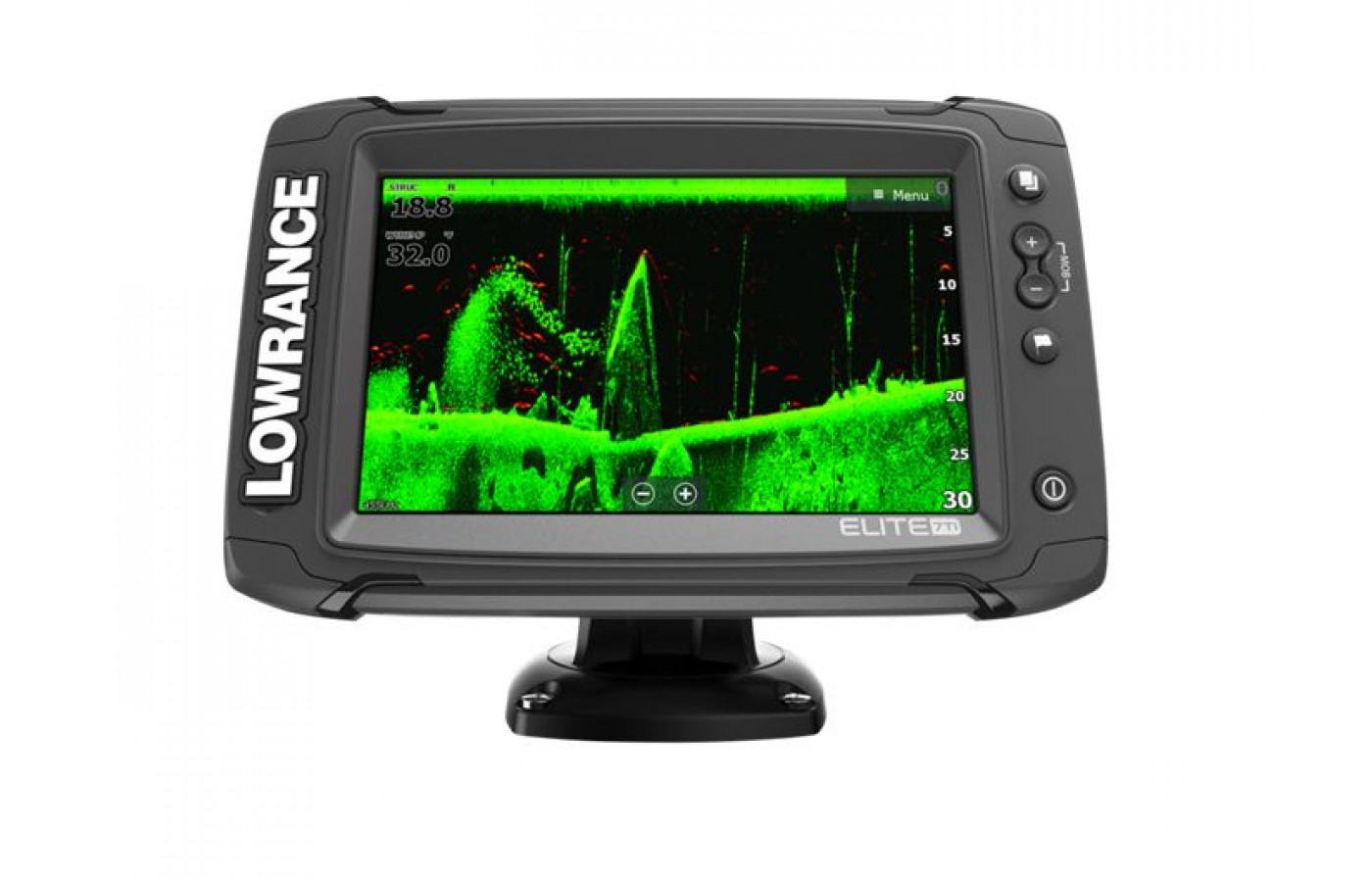 The Lowrance Elite 7 TI uses CHIRP Sonar for the best detection offered today.