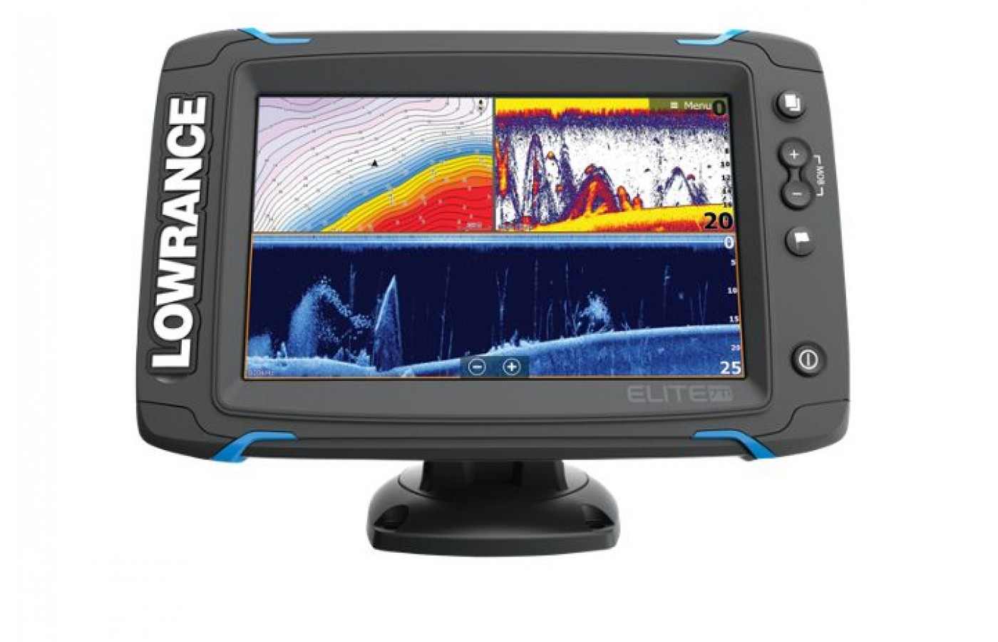 The Lowrance Elite 7 TI has a high resolution 7 inch screen.