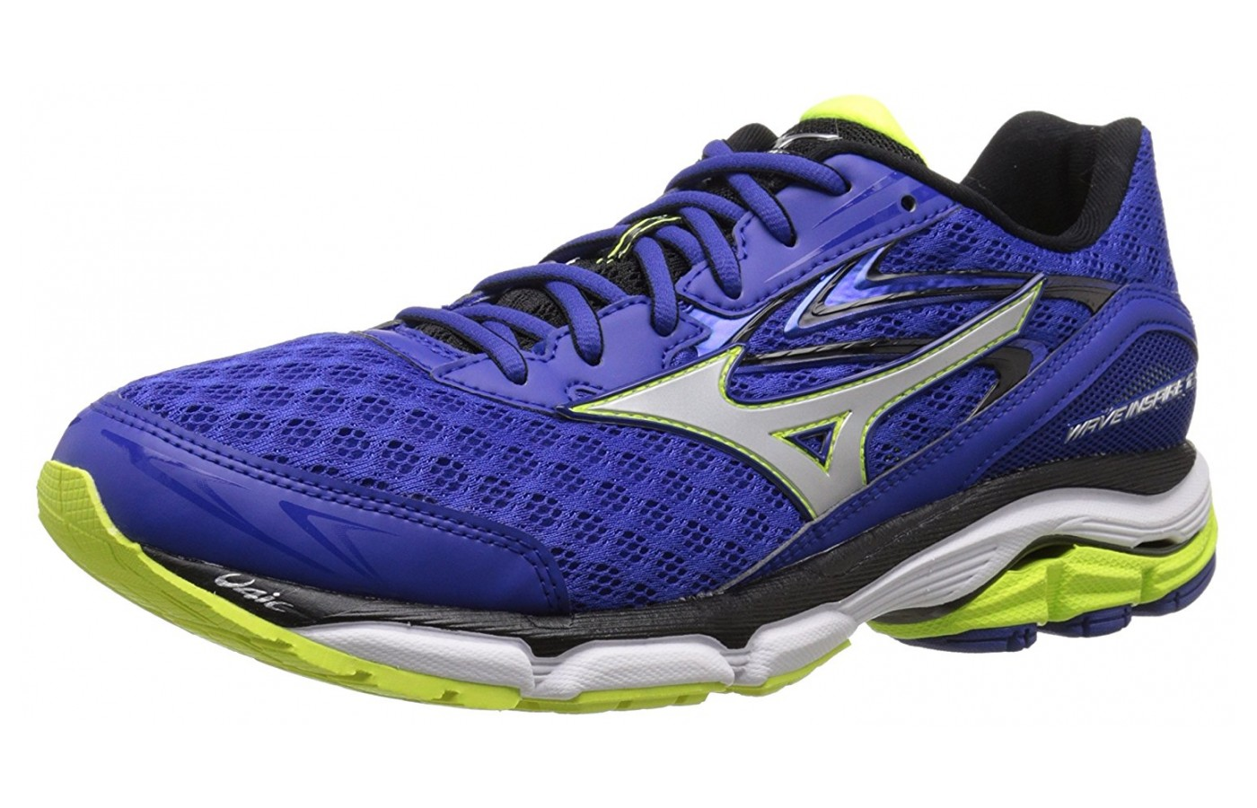 The Mizuno Wave Rider 12 utilizes an improved upper for better ventilation.
