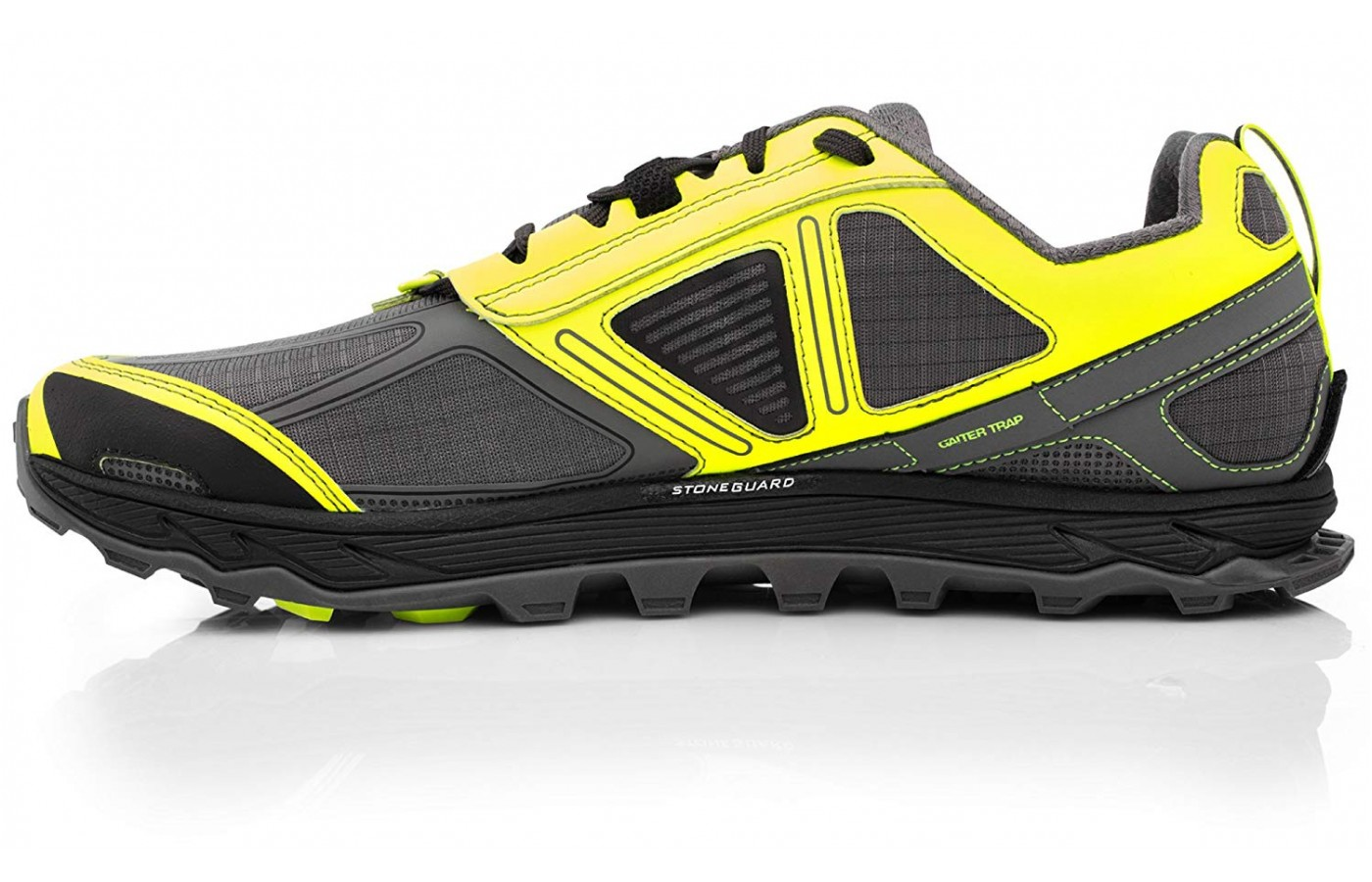 Draining mesh at the forefront and heel improve the breathability of the Lone Peak 4.