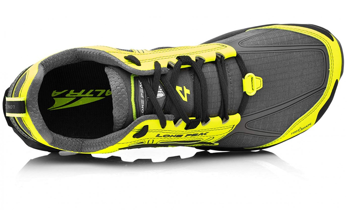 Extra room in the forefoot improves stability and comfort.