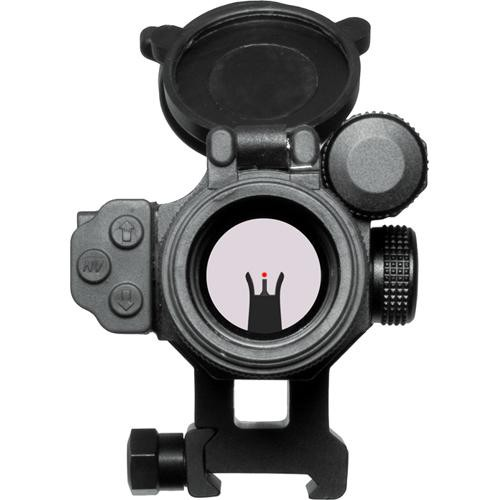 The scope can be used with backup iron sights.