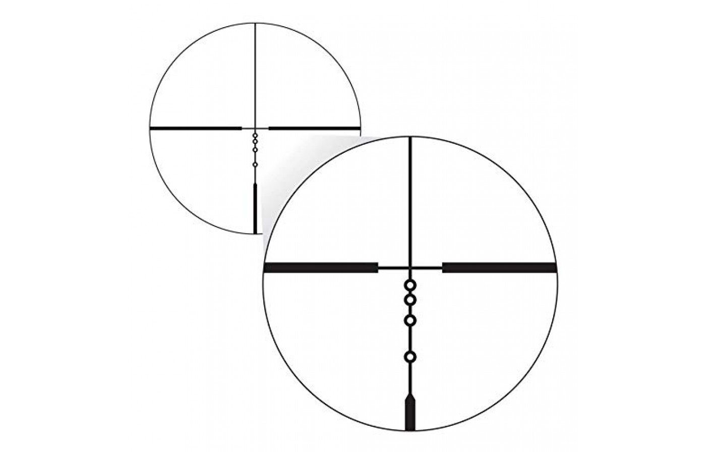 The simple scope has see-through ballistic circles,