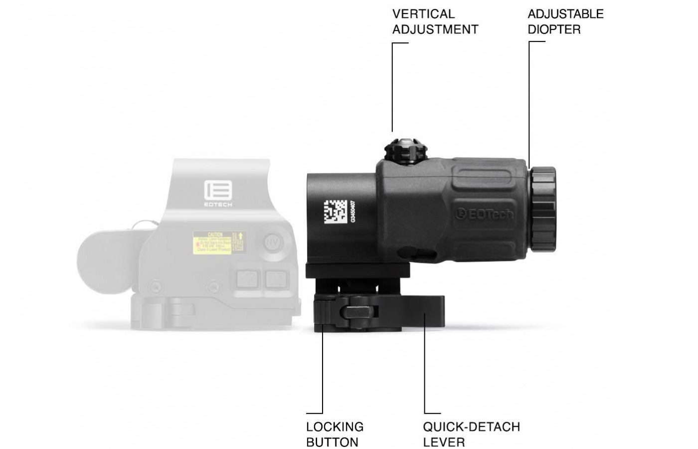 The G33 Magnifier has and adjustable Diopter