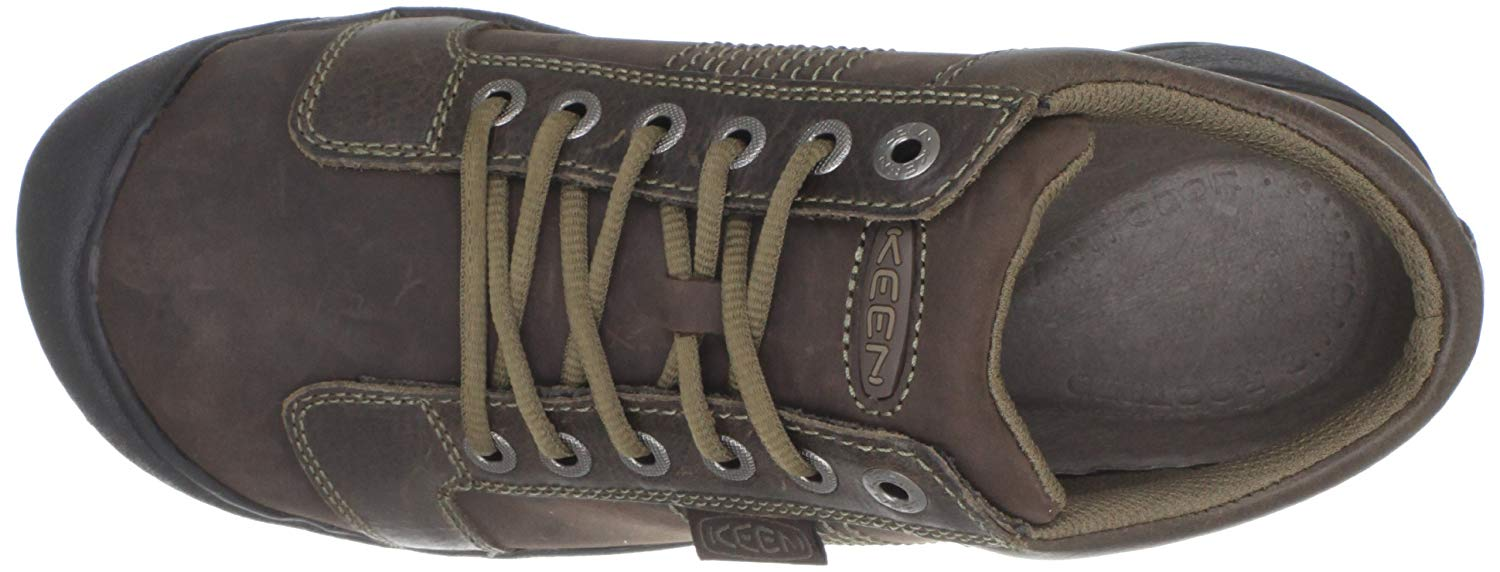 The Keen Austin has detailed stitching for a current oxford style.