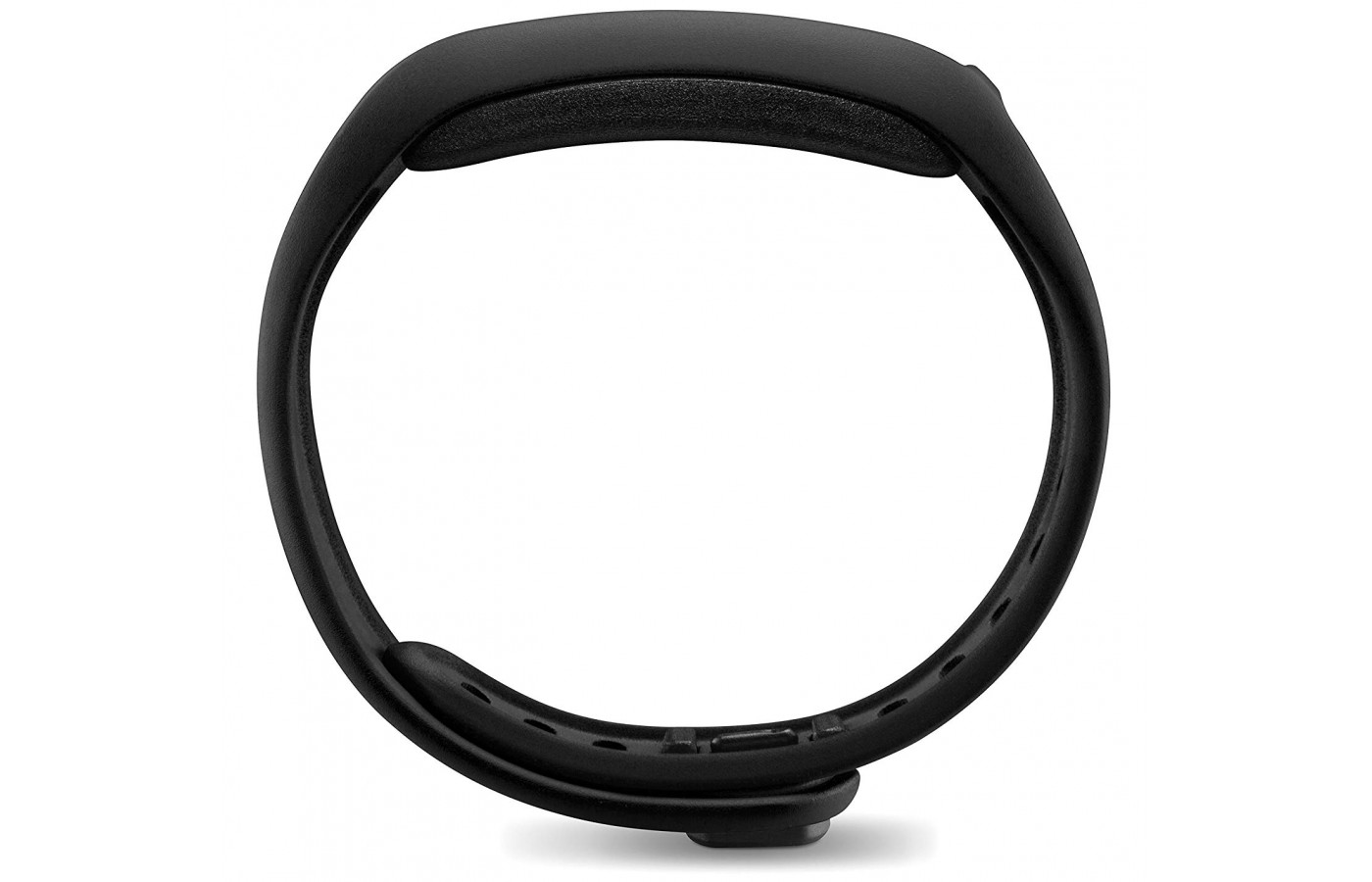 It curves to fit naturally and comfortably on top of the wrist.