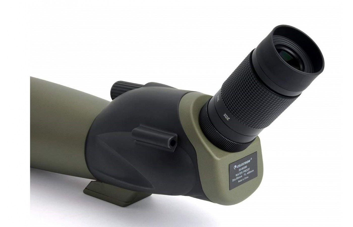 The Celestron Ultima 80 offers a sight tub for quick targeting.
