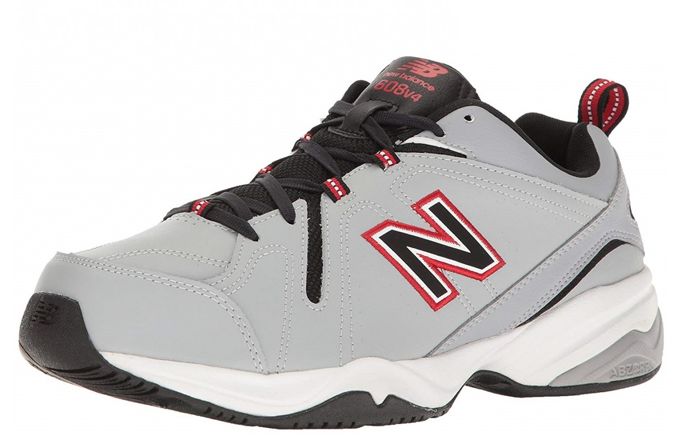 The New Balance 608v4 offers a leather upper for a closer fit across the top of the foot.