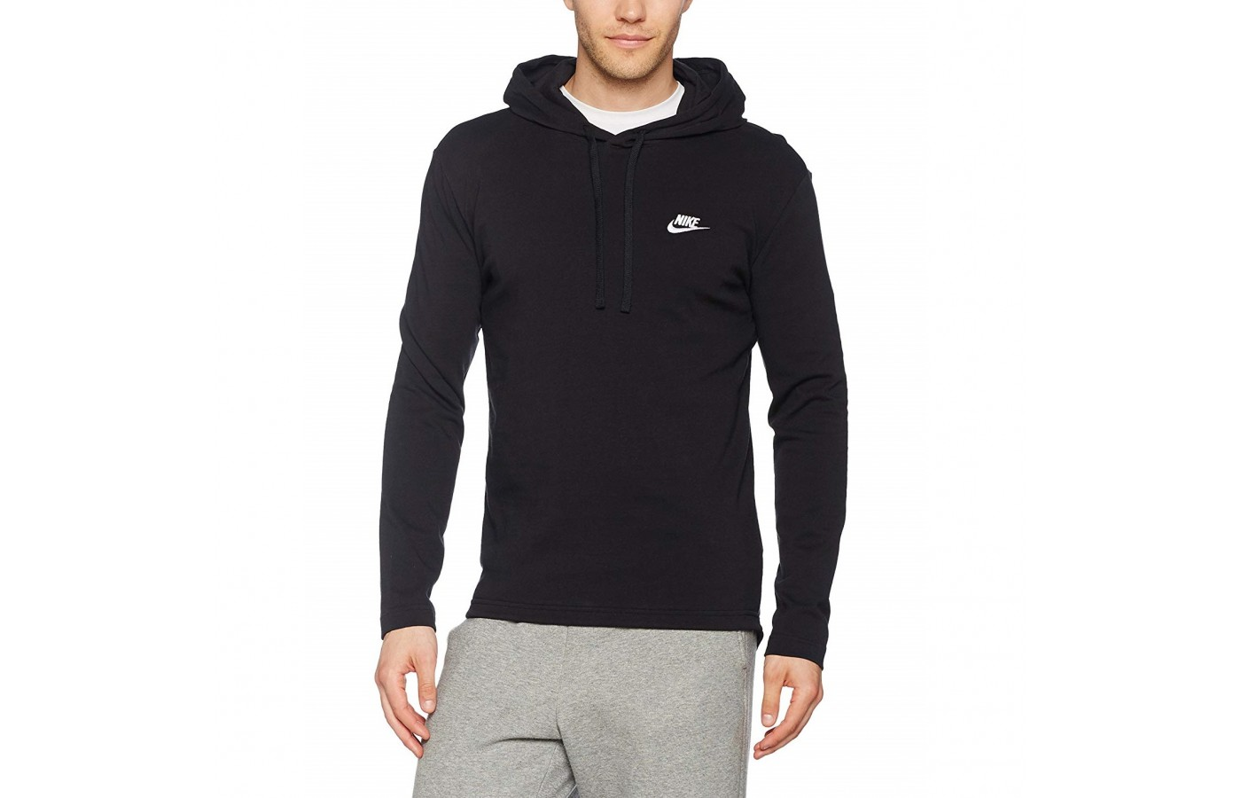 The Nike Club hoodie is offered in three different colors to suit individual styles.