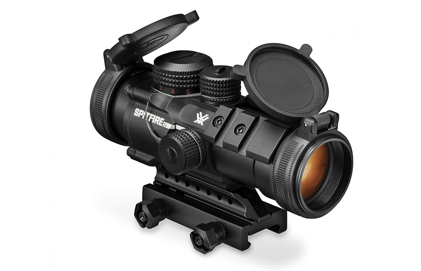 This prism scope has an impressive array of stats and specs that will perform well between 0-500 yards as you adjust to suit the distance and conditions.
