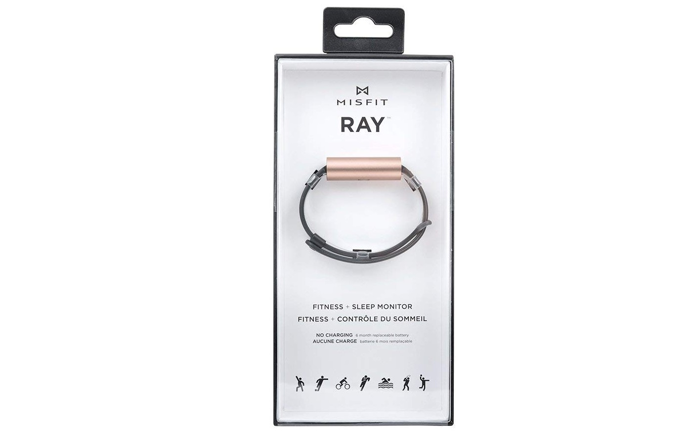 The basic features expected from a fitness tracker are provided by the Misfit Ray.