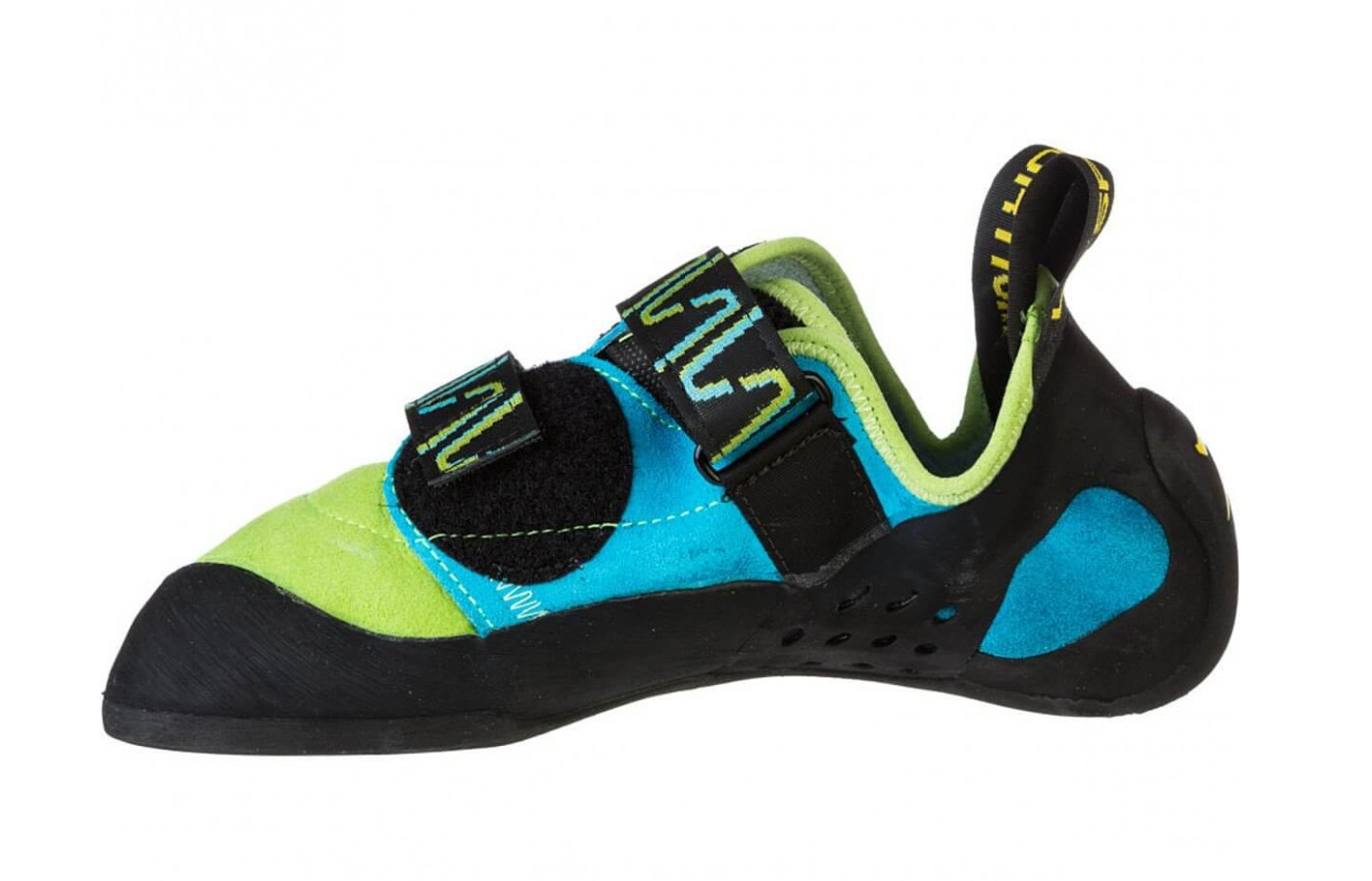 The slight downturn of the La Sportiva is less aggressive than the Miura.