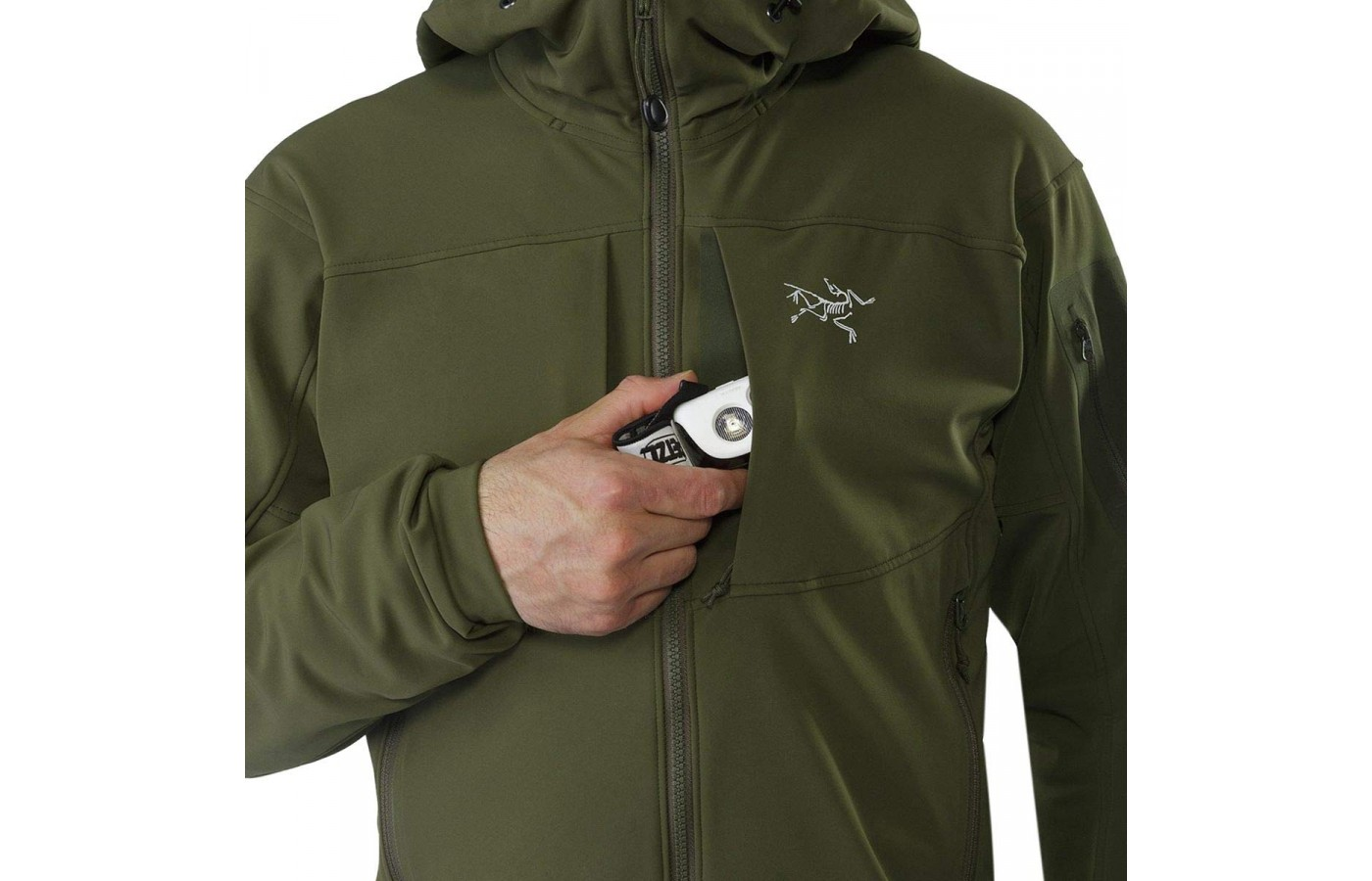 The Gamma MX Hood has zip closure chest pockets for storage